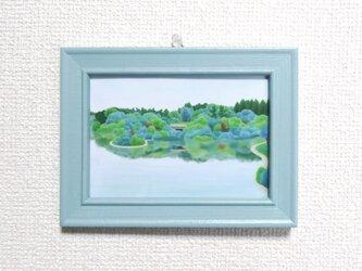 L判ミニフレーム「湖の公園」の画像