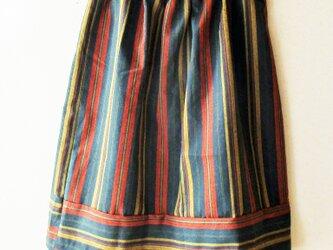 スカート 縞つむぎの画像