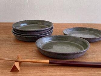 灰釉灰釉五寸平皿の画像