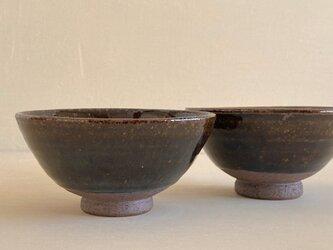 飴釉ご飯茶碗 1客の画像