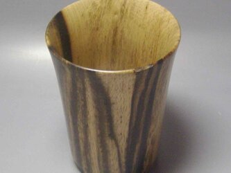 広島県産 黒柿 ビアカップ の画像