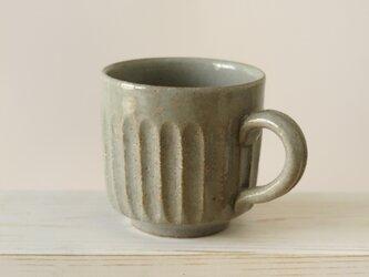 しのぎマグカップ~グレーの画像