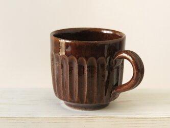 しのぎマグカップ~ブラウンの画像