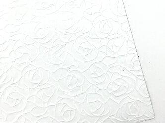本革A4サイズ ローズ型押し      【ホワイト】の画像