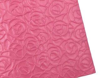 本革A4サイズ ローズ型押し      【ピンク】の画像