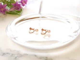 Sot.to K10PG アコヤ真珠の一粒イヤリングの画像
