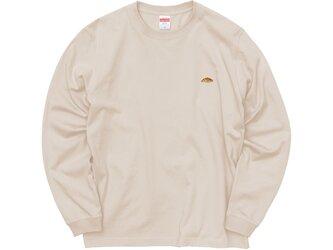 カラーロングスリーブTシャツ【ベージュ】;クロワッサン刺繍付きの画像