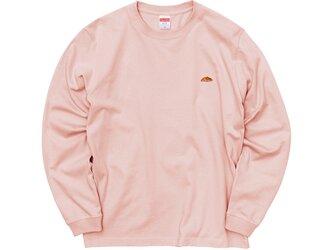 カラーロングスリーブTシャツ【オフピンク】;クロワッサン刺繍付きの画像