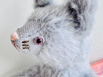 シャトン・アラザン 子猫のぬいぐるみ プレゼント ギフト ねこ こねこ グレーの画像