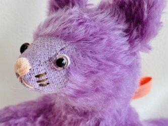 シャトン・レザン 子猫のぬいぐるみ プレゼント ギフト ねこ こねこ 紫の画像
