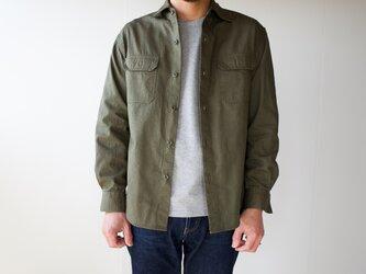 size3/cotton ox work shirt/khakiの画像