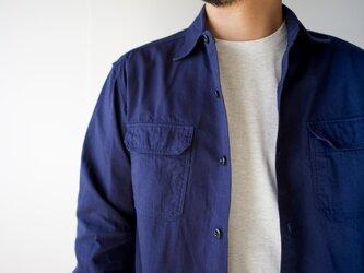 size3/cotton ox work shirt/navyの画像