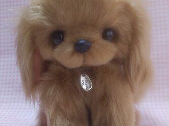 ふわふわぬいぐるみ☆垂れ耳な犬☆ブラウンの画像