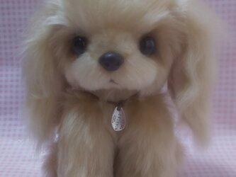 ふわふわぬいぐるみ☆垂れ耳な犬☆ベージュの画像