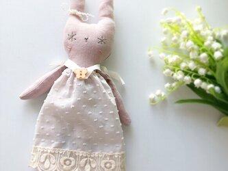 snow rabbit 麻 グレイッシュピンクの画像