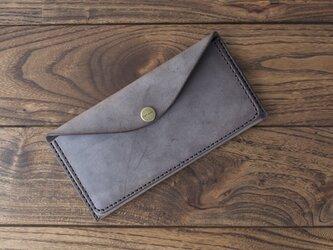 BRIDLE  スリム長財布 / チョコ※受注製作の画像