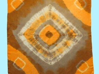 植物染め大判シルクスカーフの画像