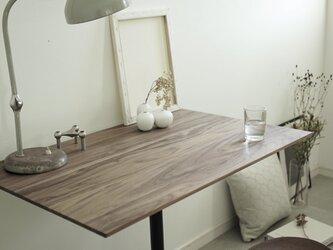 Rectangle table/ウォールナット無垢/90cm×60cm /高さ&脚カラー選択/リモートワークの画像