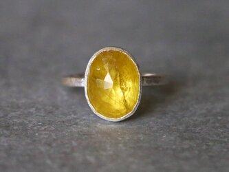 古代スタイル*天然イエローサファイア 指輪*7号 SVの画像