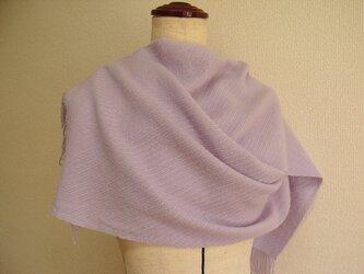 手織カシミヤストール(薄紫)の画像
