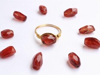 希少!宝石質 チベット産 アンデシン Wire Ringの画像