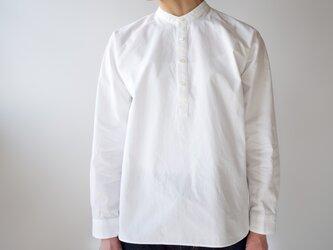 weather cloth cotton linen/raglan shirt/white/size1の画像