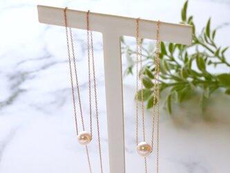 Sot.to K18 チェーンが選べる6mmアコヤ真珠のネックレスの画像