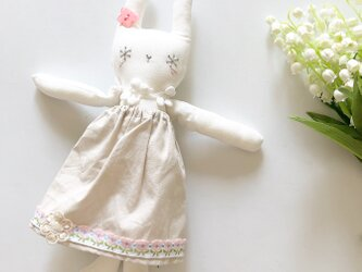 snow rabbit コットン白 グレイッシュグリーンの画像
