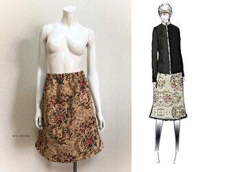 【1点もの・デザイン画付き】ゴブラン織りマーメイドスカート(KOJI TOYODA)の画像
