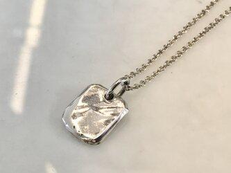 「ハンドメイドミニプレートペンダント」silver925 p628 大の画像