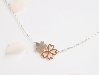 Sakura Blossom *〜桜のネックレス〜* (silver×pink gold)の画像