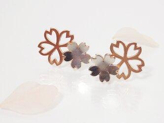 Sakura Blossom *〜桜のピアス〜* (silver×pink gold)の画像