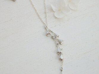 すずらんネックレス(silver)の画像