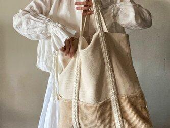 cotton hemp corduroy bagの画像