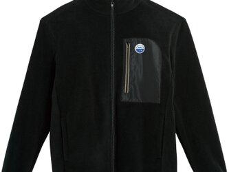 フリースジャケット【ブラック】 刺繍ワッペン WEDNESDAY HYM CITY NIGHT BEACHの画像