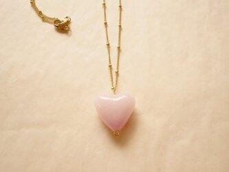 ベビーピンクハート ネックレスの画像