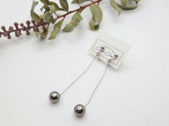 黒蝶真珠 ロングイヤリングの画像