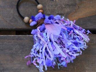 再販/シフォンの羽のゴム飾りの画像