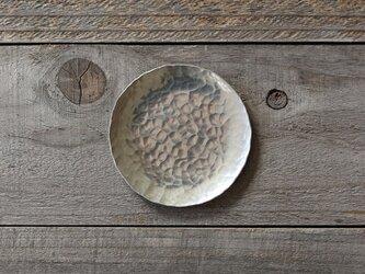 鎚目模様の豆皿 [ 錫銀 ]の画像