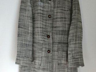スプリングステンカラーコート(シルクウールツイード)の画像