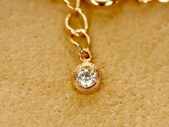 【EN JEWELLERY専用オプション】K10ブレスレット用エンドチャーム(ダイヤモンド)の画像