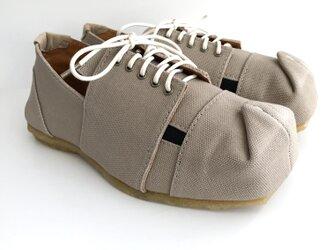SQUARE lace-shoes #倉敷帆布 #受注製作の画像