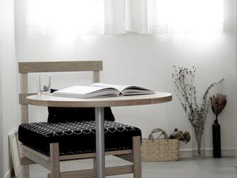 Round table オーク/直径70cm/(高さ指定可&脚カラー選択可)無垢テーブル/丸テーブル/リモートワーク/oakの画像