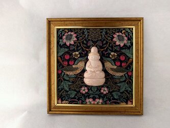 【掛仏S】 阿弥陀如来 William Morris いちご泥棒(黒) Aの画像