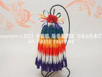 【速達】五色(ごしき)千羽鶴(スタンド付 1000羽 完成品 / 送料無料)の画像