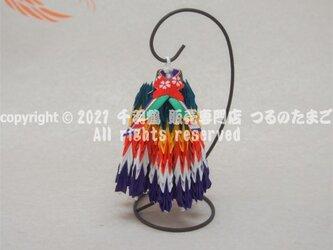 【速達】五色(ごしき)200羽鶴(スタンド付 千羽鶴 200羽 完成品 / 送料無料)の画像