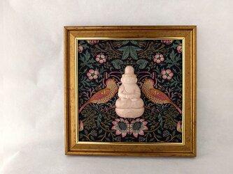 【掛仏S】 阿弥陀如来 William Morris いちご泥棒(黒) Bの画像