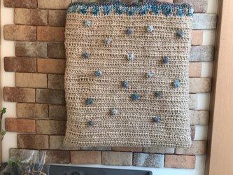 麻紐×4種のリサイクルサリーのバックの画像