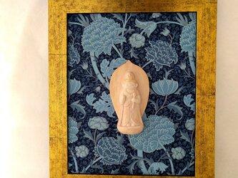 【掛仏L】 聖観音 William Morris クレイ(紺)の画像
