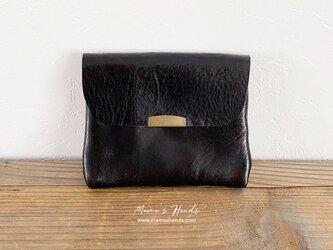 革 黒 ブラック お財布 / カードケース Bの画像